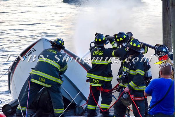 Merrick F.D. Boat Fire 3334 Hewlett Avenue 8-16-15
