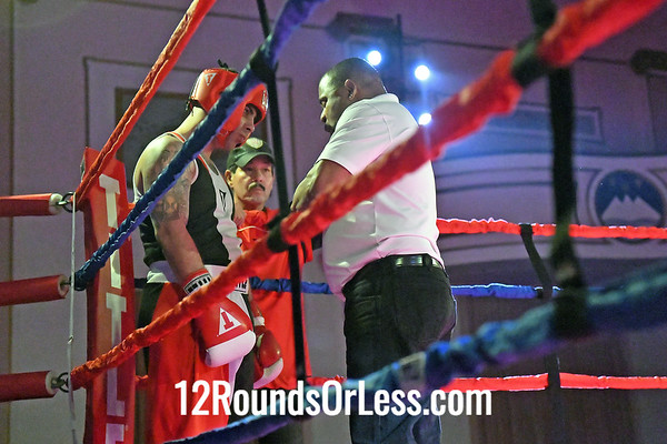 Bout #7:  Josh Robinson, Blue Gloves, Old School Iron Gym/2Tone, Twinsburg, OH  vs Felix Rodriguez, Red Gloves, Rob Berto's BC, Cleveland, OH,  178 Lbs.-Sub-Novice