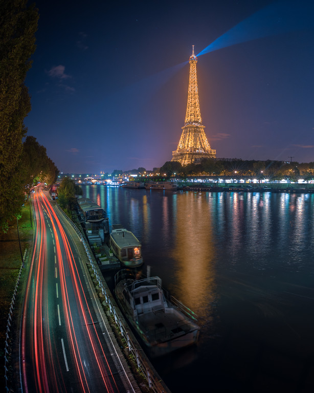 Eiffel Tower and the Seine