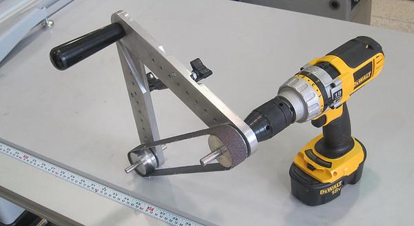 """""""maagicSander"""" (or something like that) Multiwheel DIY belt sander"""