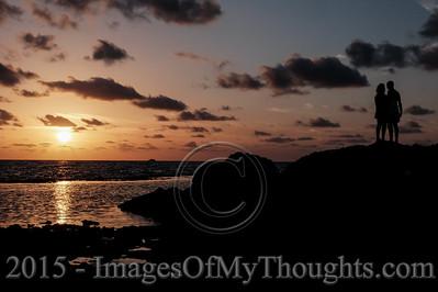 20150930 Dramatic Sunset at Nachsholim Beach