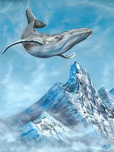 """Sky Dancer"" (oil on canvas) by Megan Dalziel"