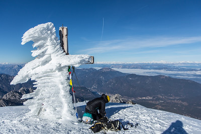 12 04 Mangart snow climb