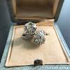 5.15ctw Old European Cut Diamond Toi et Moi Ring 11