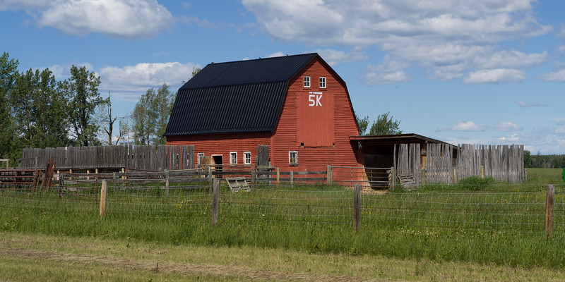 Barn in field, Alberta Highway 22, Alberta, Canada
