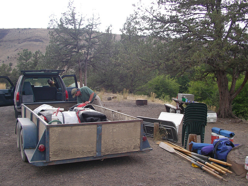 After a short drive, we're at Trout Creek Campground. Time to unload, set up camp and take it easy.