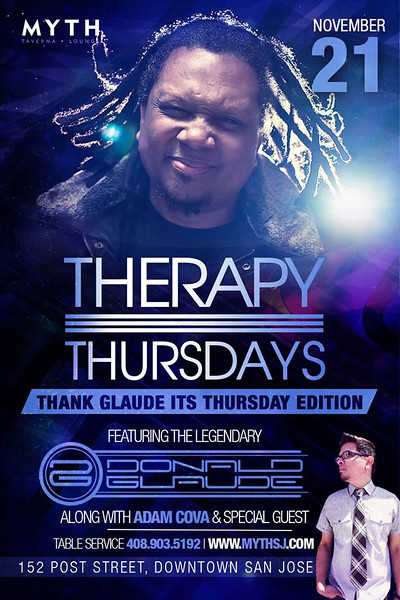 Therapy Thursdays feat. Donald Glaude @ Myth Taverna & Lounge 11.21.13