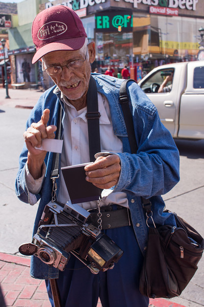 Old guy with a Polaroid