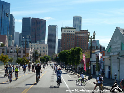 Heading to downtown - CicLAvia 2011 - Los Angeles, CA - October 9, 2011