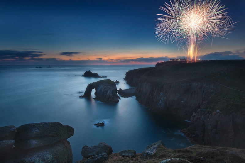 Firework over Land`s End