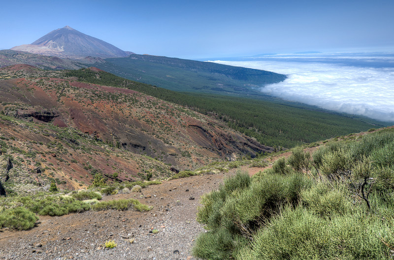 View of Mount Teide in Tenerife, Spain