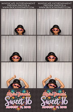 Aztiri's Sweet 16 Photo Strips- Booth Pictures