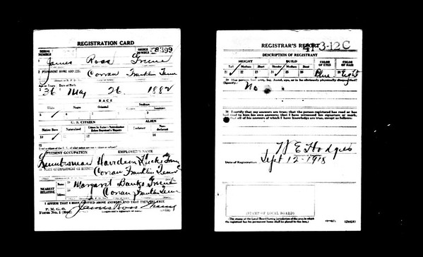 J Ross Greene 1901 Census papers