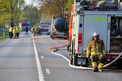 Brand i tankbil