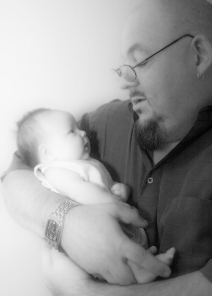 Dad and Baby bw.jpg