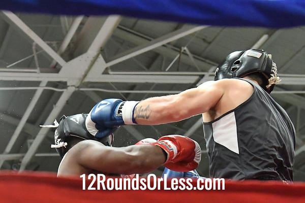 Bout 11 Josh Reynolds, Blue Gloves, Wrestling Factory -vs- Jamar Cameron, C. B. C., Red Gloves, 178 Lbs, Novice