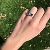 1.55ctw Old Mine Cut and Sapphire Gypsy Ring, GIA 8