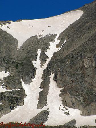 Apache Couloir Skiing 7/10/2010