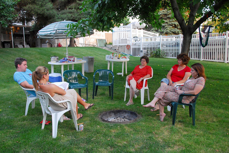 6/20/07 – We had The 9th Annual Tanner Family Summer Solstice Celebration! party at my parent's home. We roasted hot dogs over the fire, swam and then watched a movie in the back yard. It was a fun night.