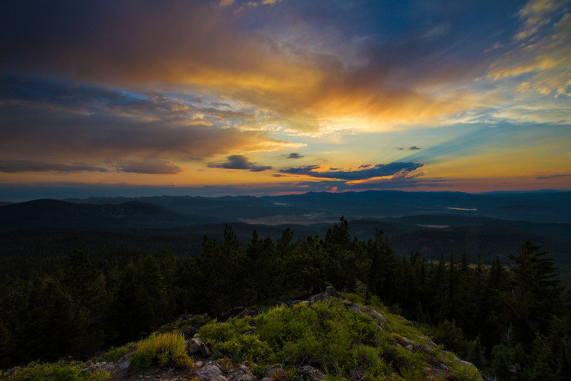 Truckee Sunset, Martis Peak