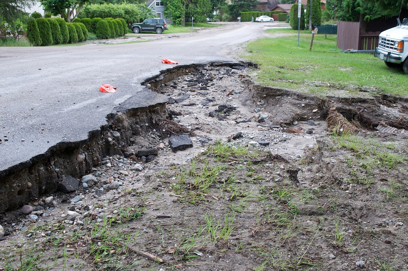 There used to be a road