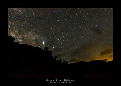 Milky Way Over Hideout Along the Green River in Brown's Park, Utah