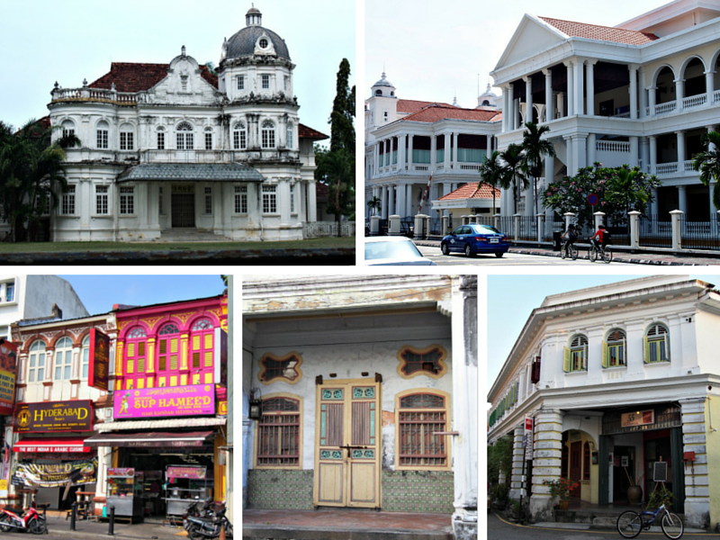 Colonial architecture in Georgetown, Penang, Malaysia.