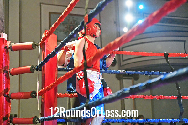 Bout #13:  Tyrell Chandler (Blue Gloves), Empire BC  vs  Dominic Mendez (Red Gloves), International BC,  132Lbs., Novice