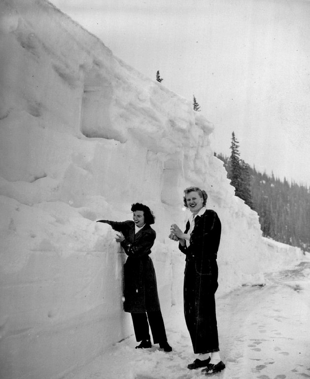 . Trail Ridge opening May 1948 in Rocky Mountain National Park.  (Denver Post Library photo archive)