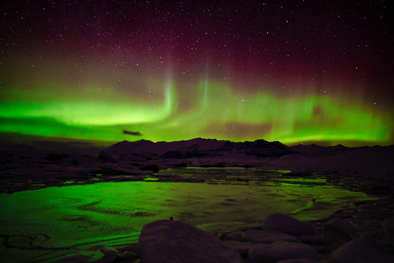 Northern Lights at Glacier Lagoon