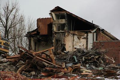 Demolition Status, Nurses Residence, St. Lukes Hospital, Coaldale (3-25-2013)