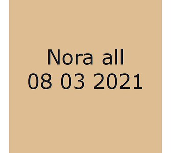 Nora 080321 All
