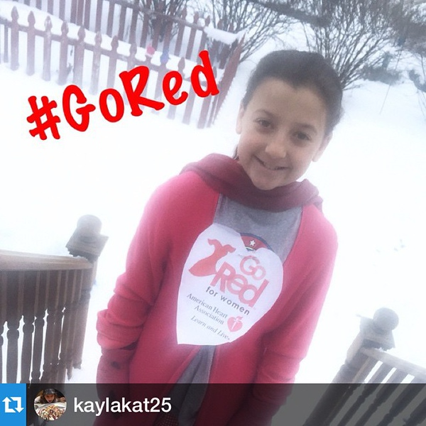#Repost @kaylakat25 was quite moved by the #GoRed day announcement on the news this morning. All her own doing.