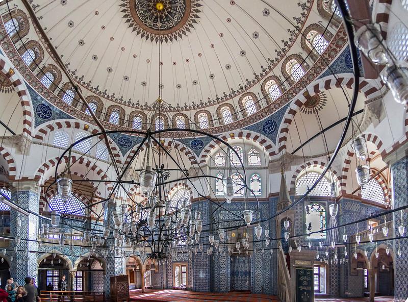 Istanbul, Rüstem Pascha: Totale des Innenraums, östliche Hälfte