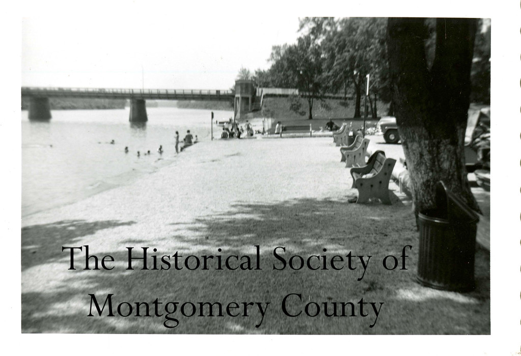 . This photo from the Historical Society of Montgomery County shows Riverfront Park in Norristown in 1955.