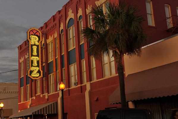 Ritz Theatre - Relighting of the Ritz Sign 11-04-11
