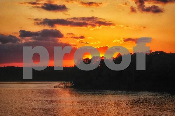 Jordan Lake Sunsets April 2015