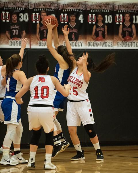 2020 Girls JV Basketball:  Hall-Dale vs Oak Hill