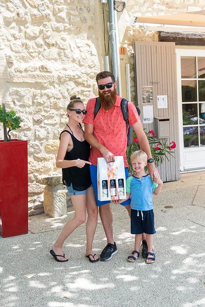 Justin and family in Gigondas
