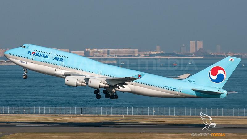 Korean Air Boeing B747-400 HL7607