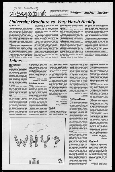 Daily Trojan, Vol. 90, No. 55, May 05, 1981
