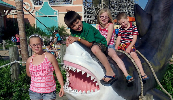 Hurricane Harbor with Grandkids & Jerakah
