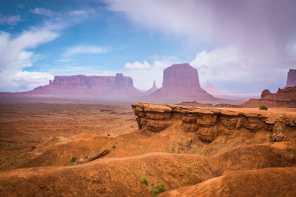 landscape photo of John Ford Point in the Monument Valley with mirrorless camera Sony a6000