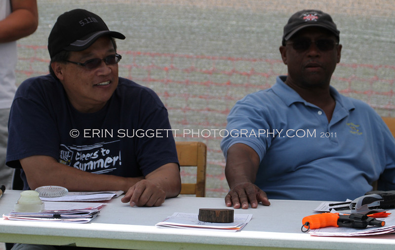 Glenn Salamanca & Michael White at the Secretary's Table.