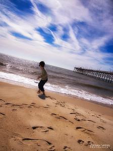 """Do I dare go in the water?"" - Yaupon Beach, Oak Island, NC"