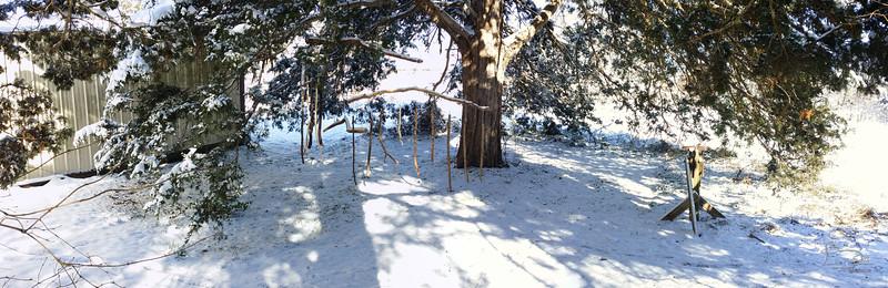 twin cedar classroom in the snow