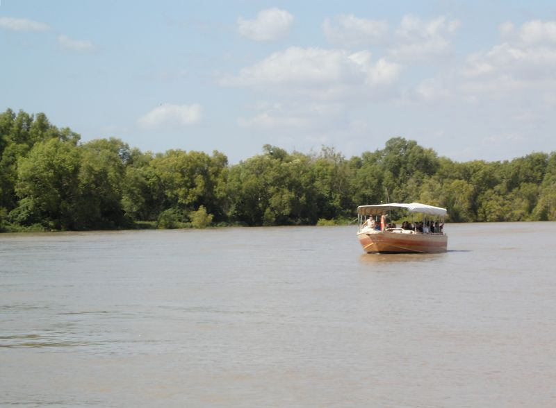 """The <a href=""""http://www.jumpingcrocodilecruises.com.au"""">Jumping Crocodile Cruise</a> on the Adelaide River, Northern Territory, was one of the included boat cruises in a 'Top End Highlight' 3-day bus tour run by <a href=""""http://www.aptours.com.au"""">Australian Pacific Tours</a>. (This particular boat was not the one we travelled on)."""