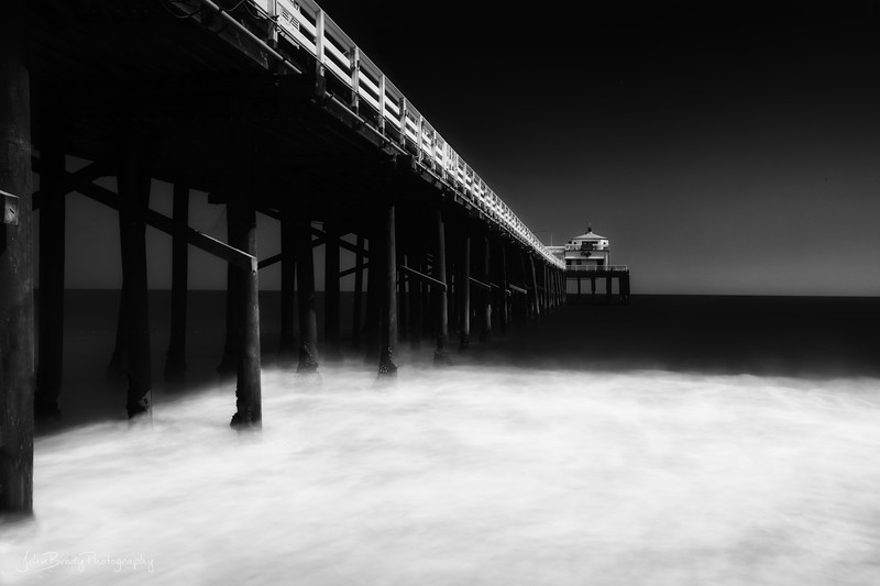 Frothing Waves at Malibu Pier - One Minute Long Exposure wirh ND Filters