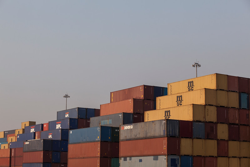 Stacks of transport containers at Chiwan Container Terminals, Port of Shekou in Shenzhen, Guangdong Province, China on Friday, Jan. 7, 2011. Photographer: Forbes Conrad/Bloomberg News