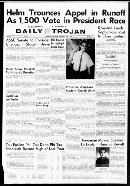 Daily Trojan, Vol. 52, No. 99, April 05, 1961